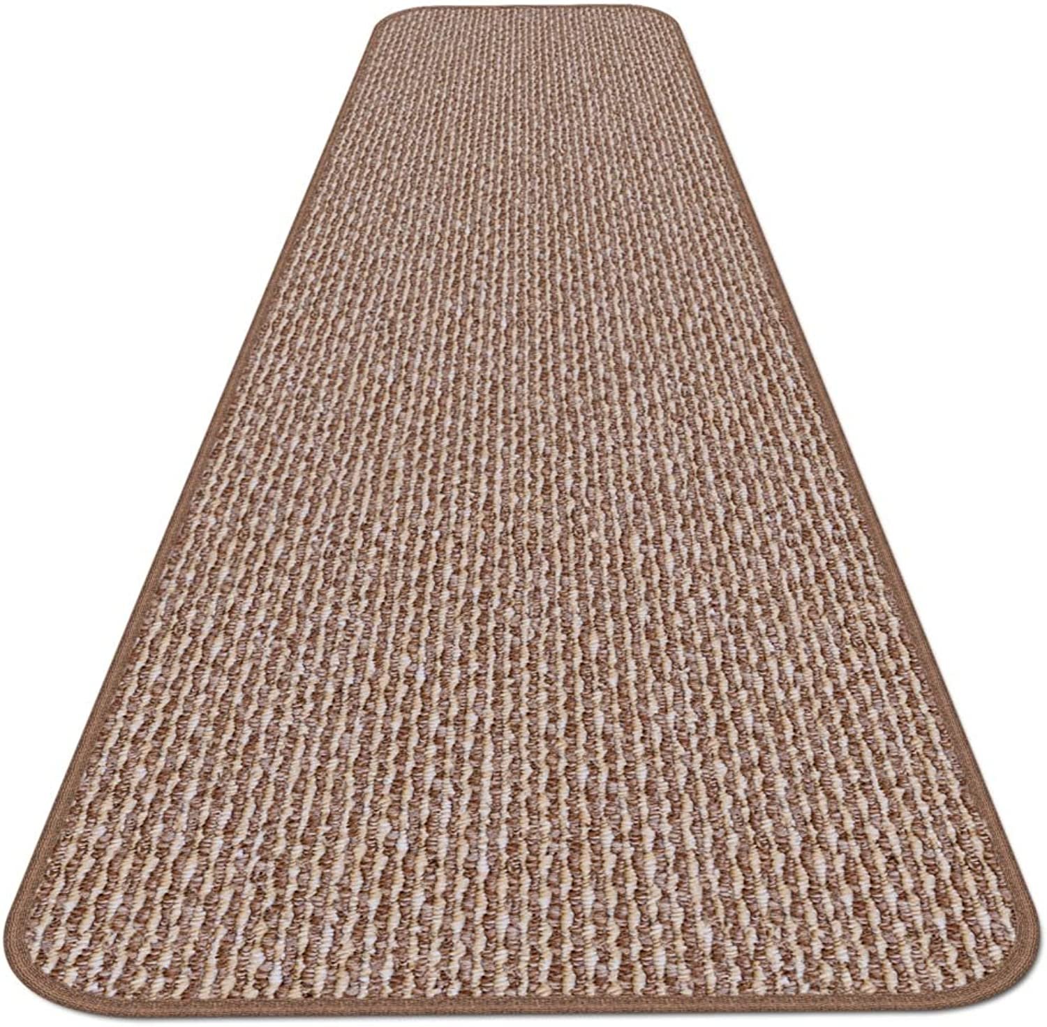 House, Home and More Skid-resistant Carpet Runner - Praline Brown - 10 Ft. X 27 In. - Many Other Sizes to Choose From
