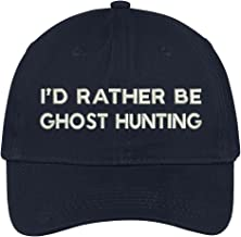 Trendy Apparel Shop I'd Rather Be Ghost Hunting Embroidered Soft Cotton Low Profile Baseball Cap