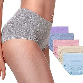 Women's Cotton Underwear,Soft Underwear Women Briefs,Comfort Breathable Underpants 5 Pack