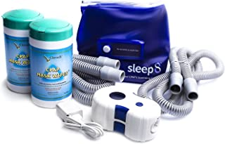 Sleep8 CPAP Cleaner with Sanitizing Bag Includes Two (2) Citrus II Cpap Mask Wipes and Two (2) Tubings 6ft Hose
