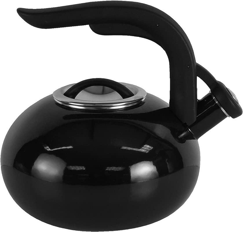 Copco 5216835 Arc Enamle On Steel Tea Kettle 1 8 Quart Black