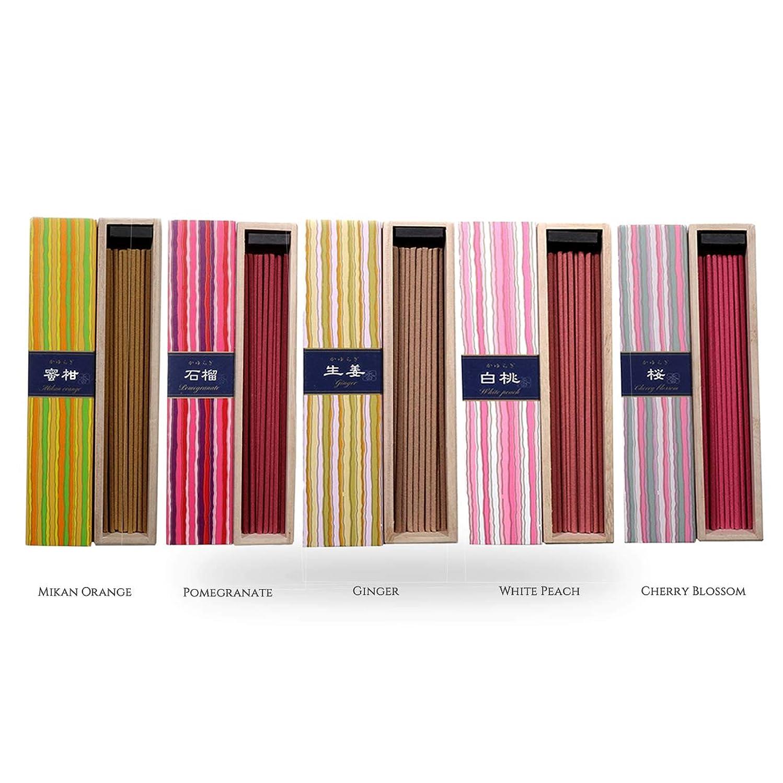 過度にガイド遷移iTakara 日本香コレクション | 日本の庭 40x5 | リラックス、瞑想、祈り、読書、ヨガ用フローラルとアロマの木の香り | クリーン燃焼、ピュアな香り
