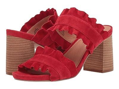 Free People Rosie Ruffle Heel (Red) Women