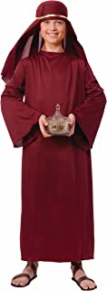 Forum Novelties Biblical Times Shepherd Burgundy Costume Robe, Child Large
