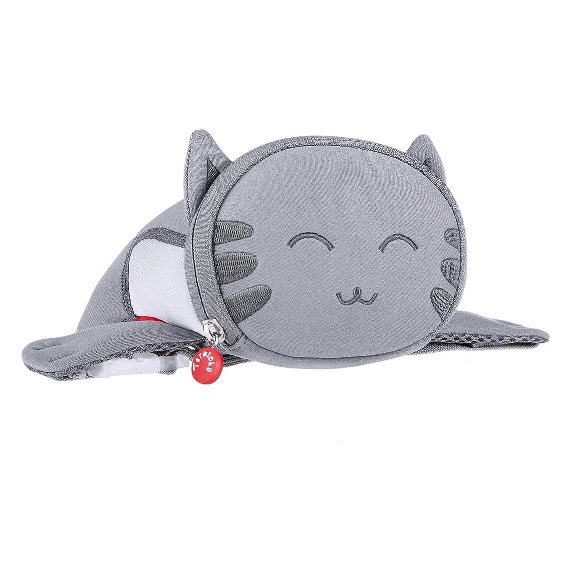 Kids Travel Waist Purse, Termichy Cute 3D Cartoon Cat Animal Fanny Pack Bag For Babies Girls Toddler Children Sport Running Camping Trip Makeup Masquerade Toy(Kitty)