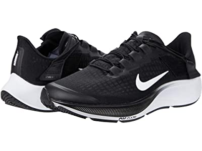 Nike FlyEase Air Zoom Pegasus 37 (Black/White/Smoke Gray) Men