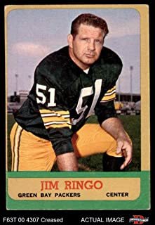 1963 Topps # 91 Jim Ringo Green Bay Packers (Football Card) Dean's Cards 3 - VG Packers