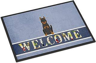 Caroline's Treasures BB5661MAT Beauce Shepherd Dog Welcome Indoor or Outdoor Mat 18x27, 18H X 27W, Multicolor