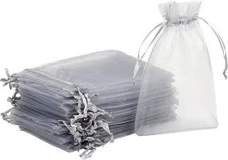 Madholly 300 Pieces Sheer Drawstring Organza Gift Bags,3.9