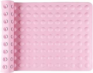 IRETION お風呂マット 浴槽 滑り止めマット 転倒防止 介護用品 痛くない 吸盤付き 40×70cm 天然ゴム製 (ピンク)