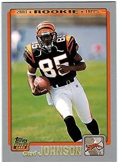 2001 Topps Cincinnati Bengals Team Set with Chad Johnson RC & 2 Corey Dillon - 13 NFL Cards