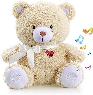Honey Bear Baby Sleep Soother by BEREST- Mom's Heartbeat Sound White Noise Machine Infant Slumber Buddies Bear Toy Sleepin...