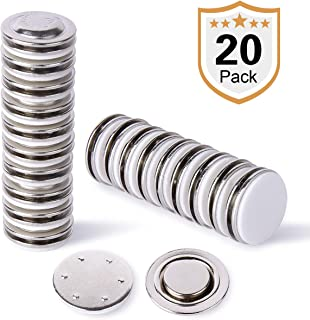 Strong Small Round Name Badge Magnet,20 Pack Ideal for Button Badges, Circle Badges,Brooches, Arts&Crafts and Other Round or Small Name Tags