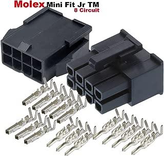 Molex 8-Pin Black Connector Pitch 4.20mm.0165 w/18-24 AWG Pin Mini-Fit Jr