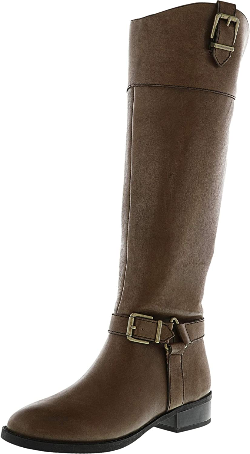 Inc Women's Fedee Cement Knee-High Leather Equestrian Boot - 5M