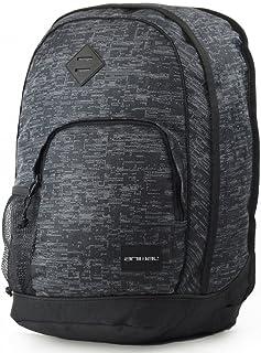 Animal Mens Park School College Two Strap Backpack Rucksack Bag - Grey