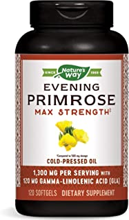 Nature's Way EfaGold Evening Primrose, Cold Pressed Oil 1300mg, 120 Softgels Package May Vary