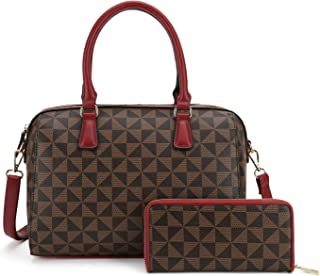 Leather Handbags 2pcs Set for Women Fashion Purse Shouler Totes Bags