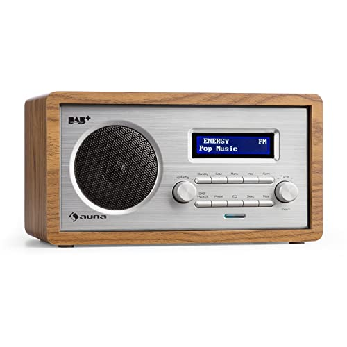 auna Harmonica Dab+ / FM - Radio Digital , Retro , Vintage , Búsqueda de emisora Manual/automática , Pantalla LCD , Hora y Fecha , Función RDS , Entrada auxilia , Madera Clara