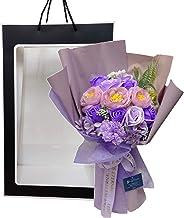 ソープフラワーブーケ ETERNAL BOUQUET (ラベンダー) 袋付 花束 母の日 敬老の日 誕生日 記念日 お祝い プレゼント ギフト お見舞い 還暦 退職 女性 贈り物 クリスマス