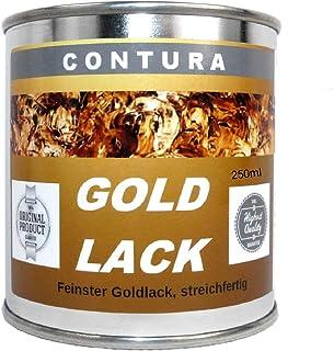 250ml. Goldlack Goldfarbe Effektlack Metalleffekt Lack innen & außen für Holz, Metall Bilderrahmen Gold- Effekt wie Blattgold