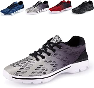 Mens Casual Walking Shoes Lightweight Breathable Running Tennis Sneakers, 1#grey, 10.5 M US