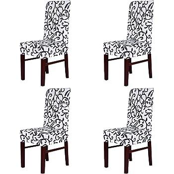 housse de chaise noir et blanc
