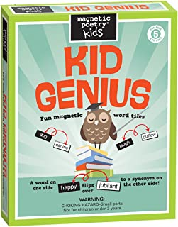 Magnetic Poetry - Kid Genius Kit - Ages 5 and Up - Words for Refrigerator - Write Poems and Letters on the Fridge - Made in the USA