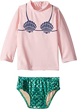 Mermaid Rashguard Set (Infant/Toddler)