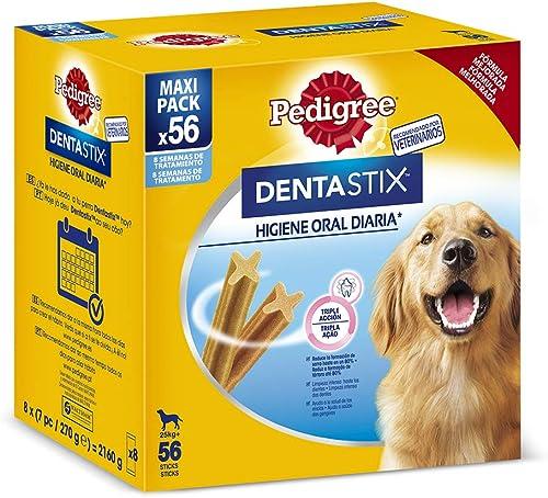 Pedigree Dentastix Lot de 56 Snacks dentaires pour l'hygiène bucco-Dentaire des Grands Chiens