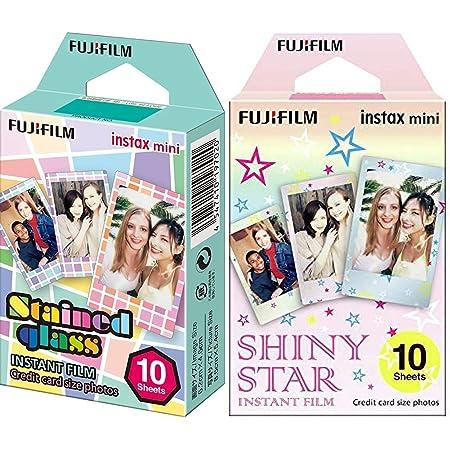 instax 16404193 - Colorfilm Mini Star WW 1, película fotográfica instantánea (10 Hojas per Pack), Estrellas + Mini Stained Glass - Película instantánea