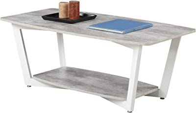 Convenience Concepts Graystone Coffee Table, Gray / White Frame