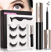 Magnetic Eyeliner and Magnetic Eyelash Kit, Natural Look, Waterproof and Smudge Resistant, Magnetic Lashliner for Use with...