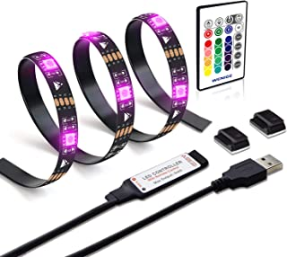 WENICE LED tv Backlight 6.56ft for 32-43in TV, USB LED Strip Light Kit 78inch/2m with Remote - 16 Color 5050 LEDs Bias Lighting for HDTV