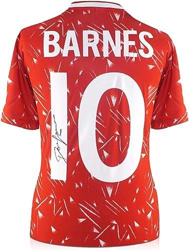 Exclusive Memorabilia Chemise Liverpool (1989-91) avec Le nom et Le numéro signés par John Barnes