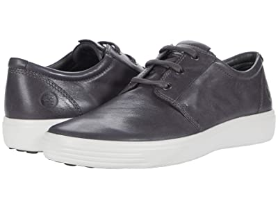 ECCO Soft 7 Plain Toe Sneaker (Magnet) Men