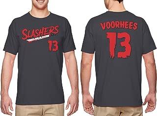 Slashers Voorhees 13 Jersey - Horror Movie Men's T-Shirt