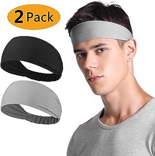 Neitooh Headbands for Men Women(2 Pack), Mens Headband...