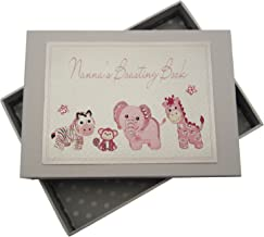 White Cotton Cards Nanna's Boasting Book Tiny Photo Album Toys Range (Pink)