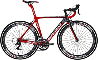 EUROBIKE TSM910 50 cm Carbon Fiber Frame Road Bike 18 Speed 700C Road Bicycle