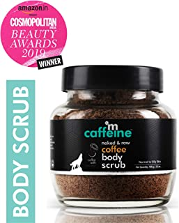 mCaffeine Naked & Raw Coffee Body Scrub, 100 g | Coconut | Tan Removal | Oily/Normal Skin | Paraben & SLS Free