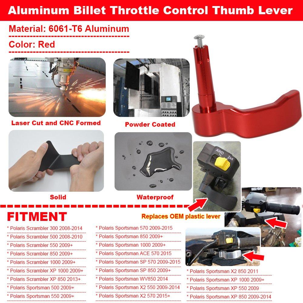 For Polaris Sportsman 550 570 1000 Scrambler 500 Thumb Throttle Control Lever