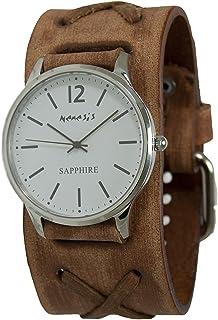 [ネメシス] Nemesis 腕時計 Men's 'Sapphire' Quartz Stainless Steel and Leather Casual Watch, Color:Black 日本製クォーツ BFXB252W メンズ 【並行輸入品】