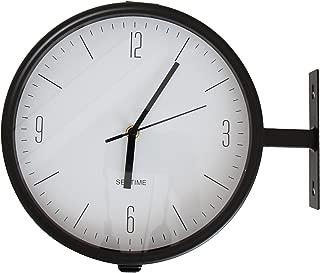【エルアンドシー】西海岸ダブルクロック ステーションクロック 時計 掛時計 オフィス 店舗 ショップ カフェ 置き時計 両面時計 クロック 西海岸 サーフ インテリア 西海岸風インテリア アメリカン雑貨