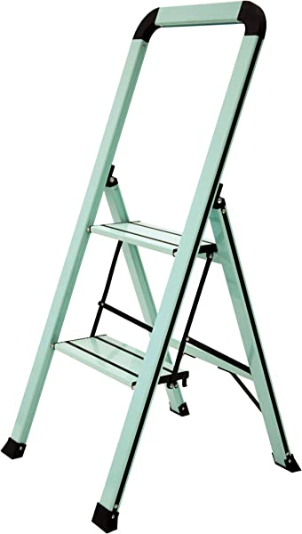 Ascent ADS2 001 TL Series Aluminum 2 Designer Step Stool Teal