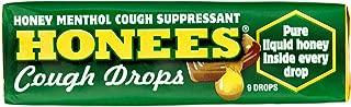 Ambrosoli Honees Menthol Eucalyptus Cough Drops, 9-Drop Bars (Pack of 24)