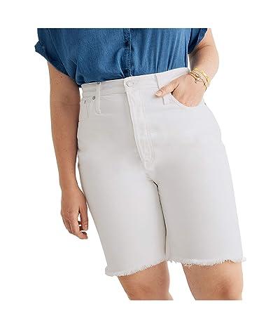 Madewell Long Inseam Rigid Shorts in Tile White (Tile White) Women