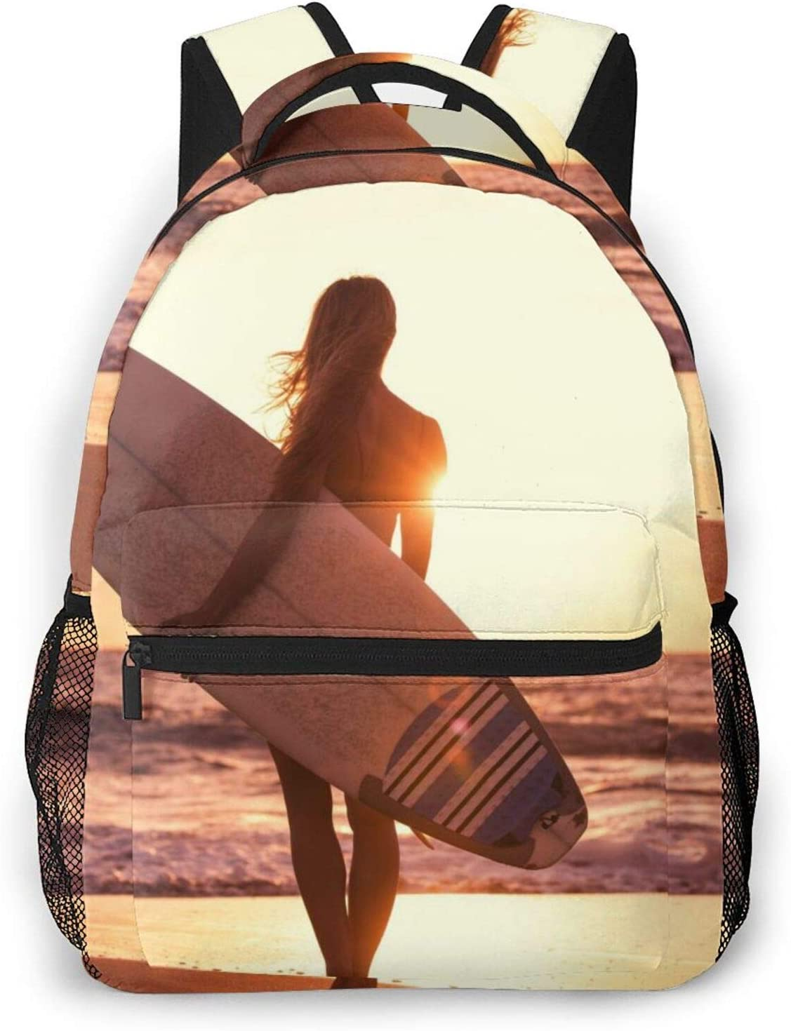 Surfing Girl Beach Sun Sea High quality D 2021 model Durable Lightweight Casual Backpack