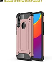 P Smart Z /Y9 Prime 2019 Case, TPU +PC Iron Armor Shockproof Designed Case,Full Body Dual Layer Rugged Cover for Huawei P Smart Z /Y9 Prime 2019 Case(Rose Gold)