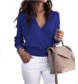Howely Women's Sexy Fashional Wrap Over Front Short Tops T-Shirts Blouse